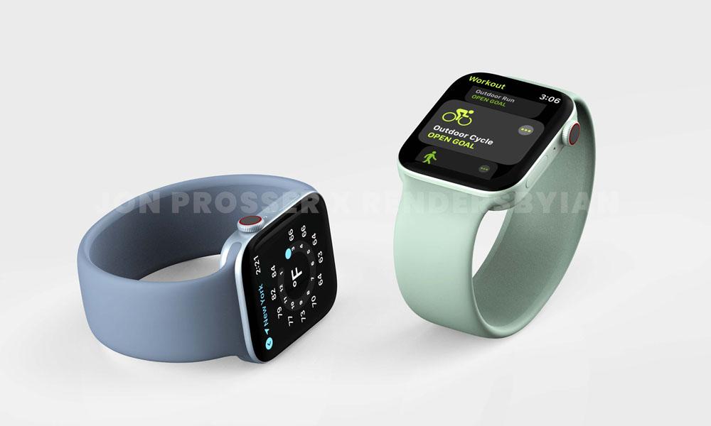 Apple Watch s7 green blue