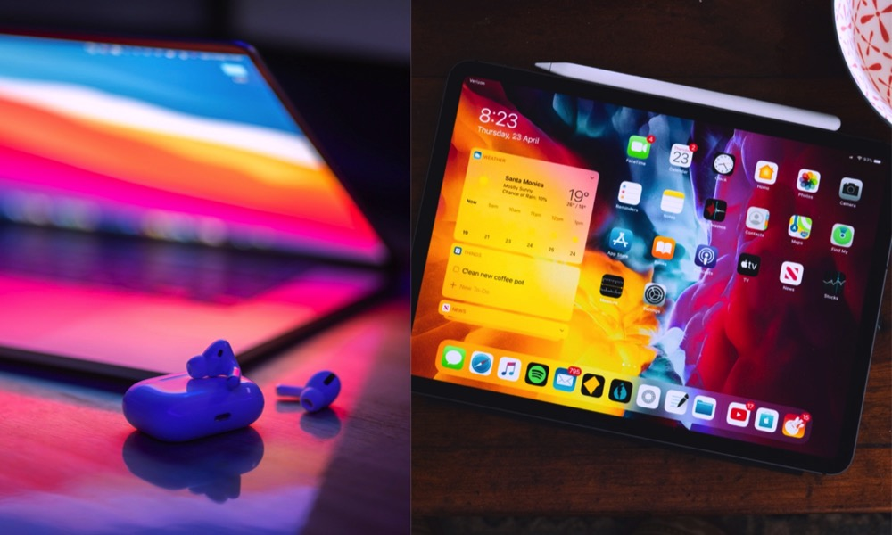 MacBook AirPods Pro iPad Pro and Apple Pencil