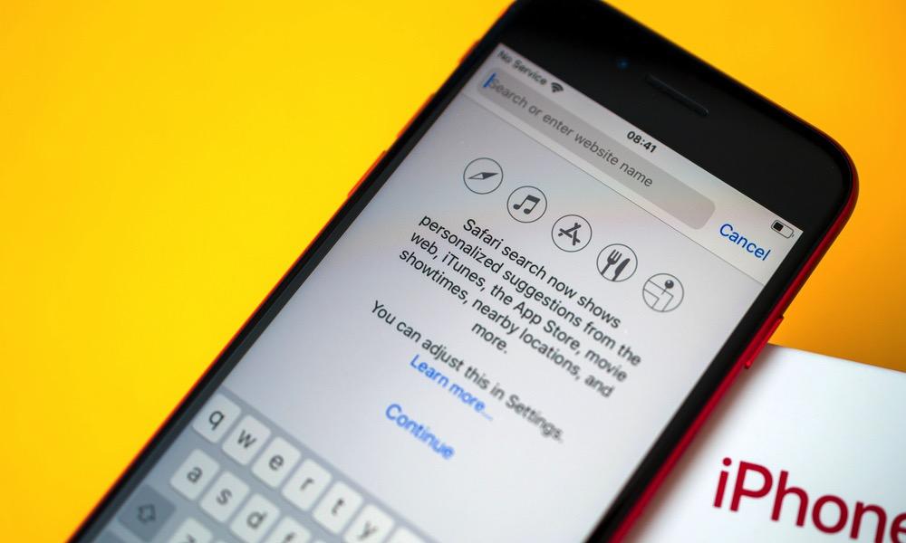 Safari for iOS on iPhone Search URL Bar