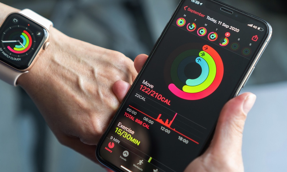 Apple Watch iPhone Fitness App Sharing Summary