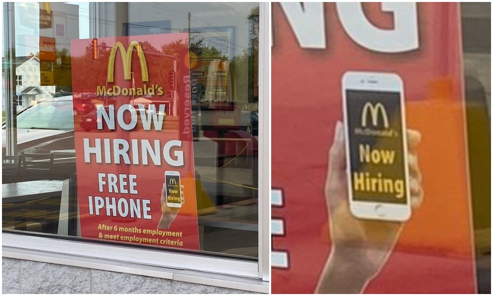 McDonalds Offering Free iPhone to Employees