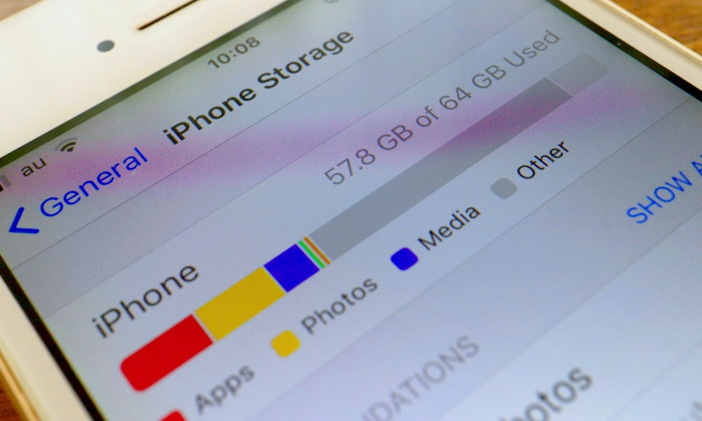 iPhone Storage and Other Storage