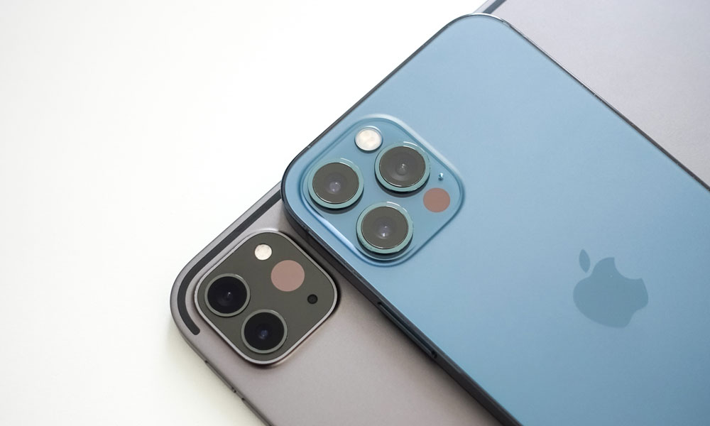 iPad Pro and iPhone 12 cameras