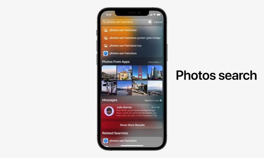 Spotlight Live Text iOS 15