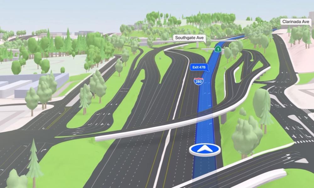 Apple Maps 3D Highways and Interchanges