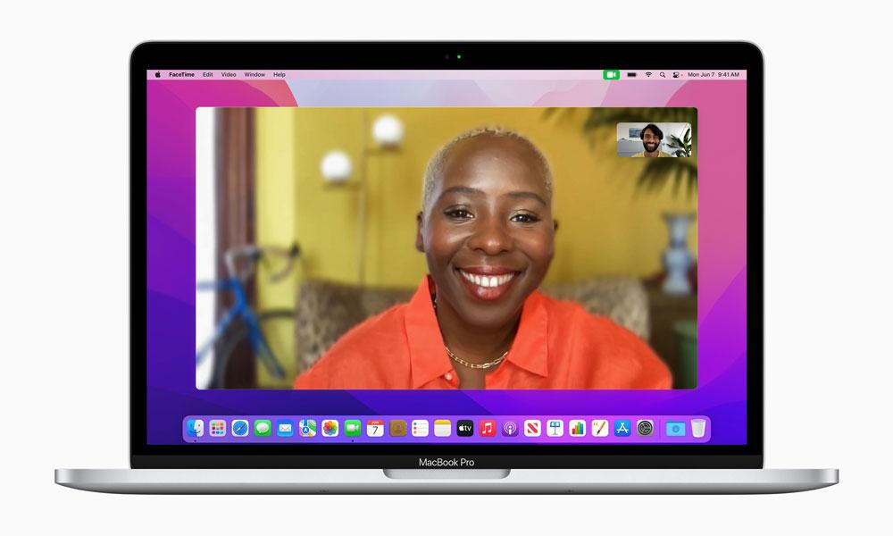 macOS Monterey FaceTime Portrait Mode