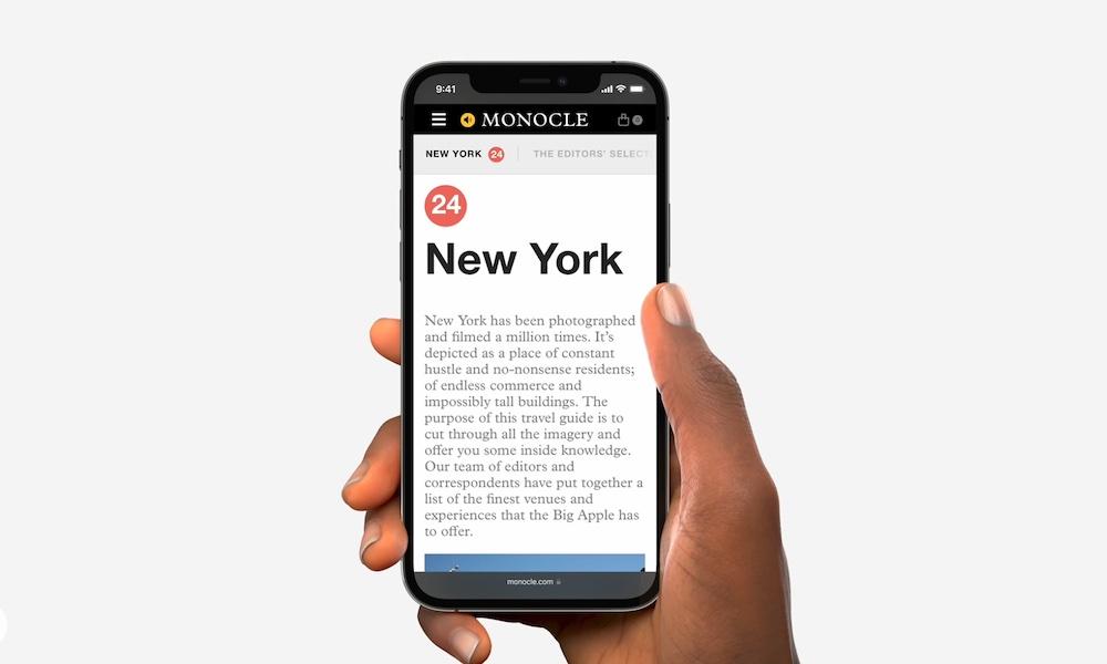 Safari on iPhone with iOS 15
