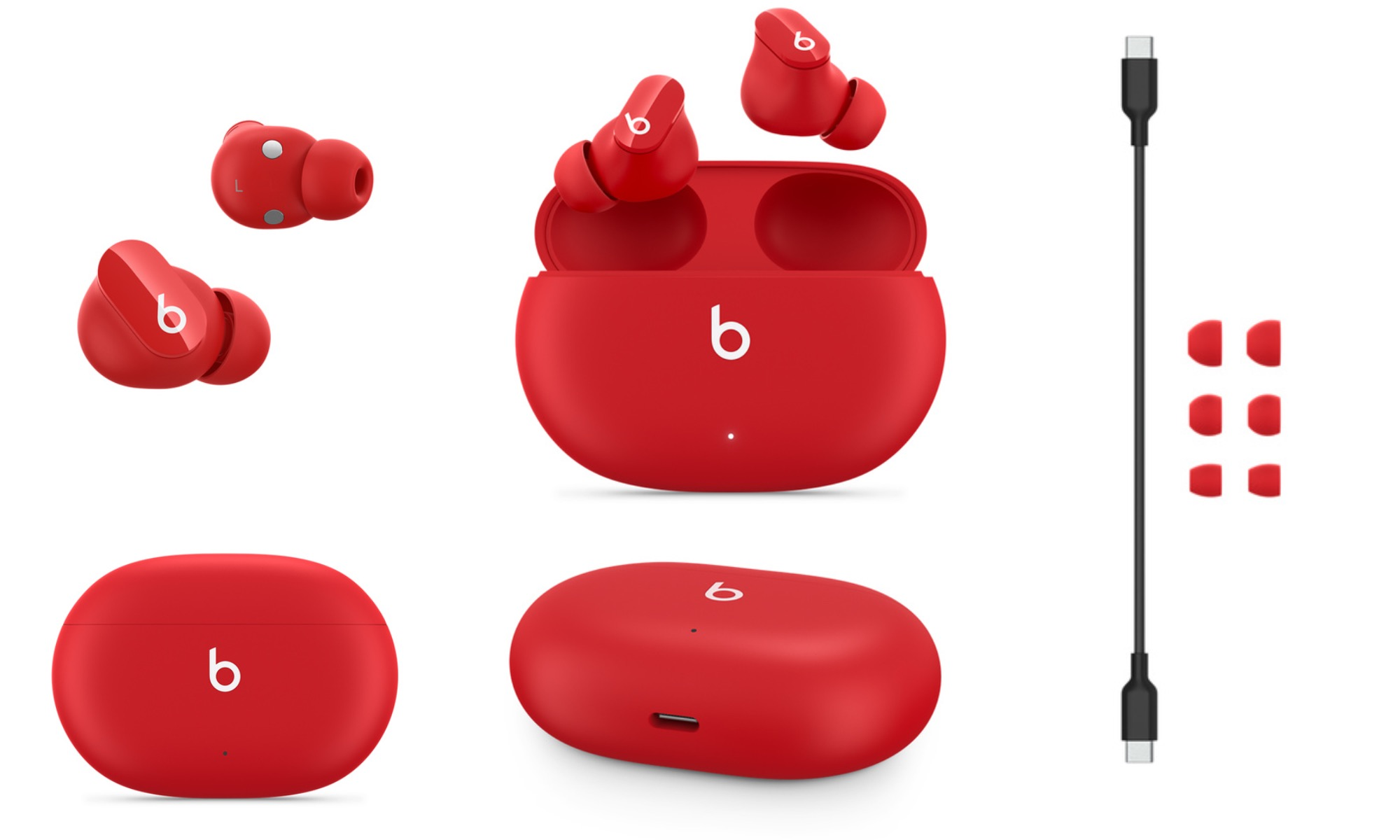 Beats Studio Buds Angles and Accessories