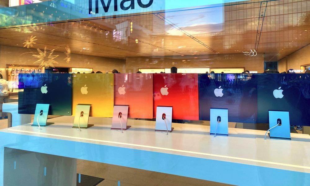 New iMac at Apple Store
