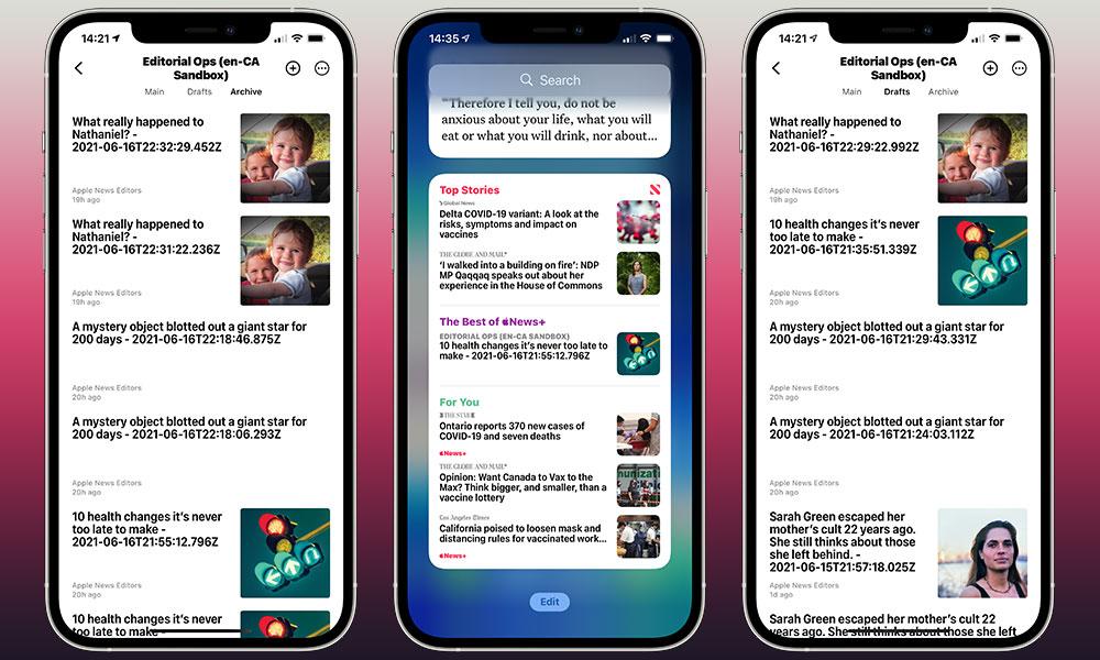 Apple News Editorial Ops leak