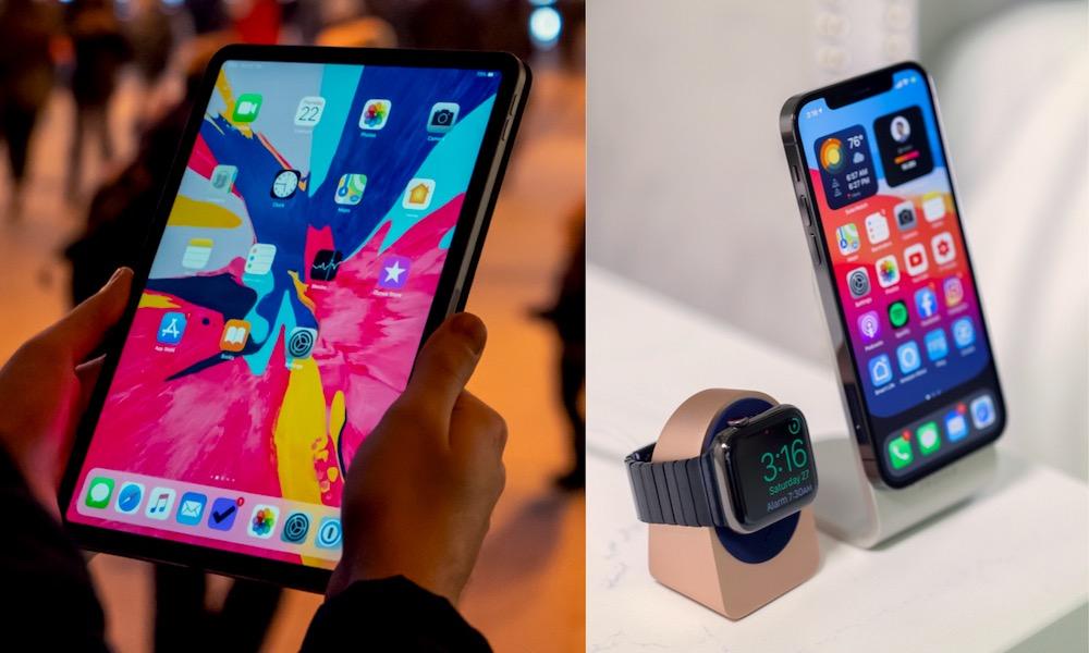Apple iPad Apple Watch and iPhone