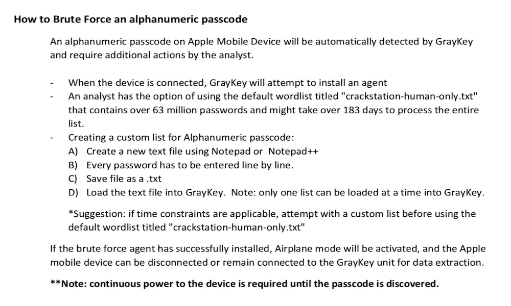 GrayKey Instructions How to Brute Force an iPhone