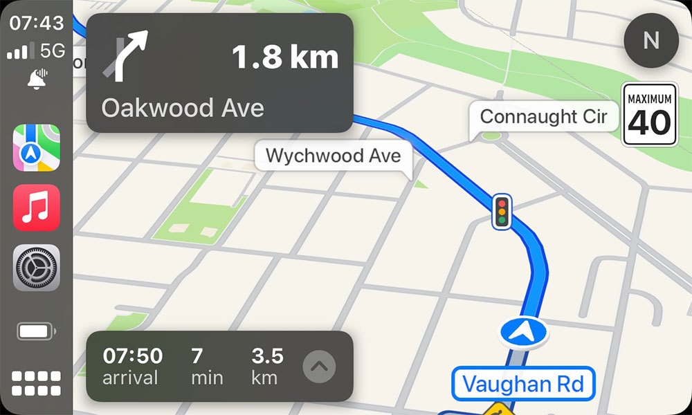 iOS 15 CarPlay Announce Messages Indicator during Navigation