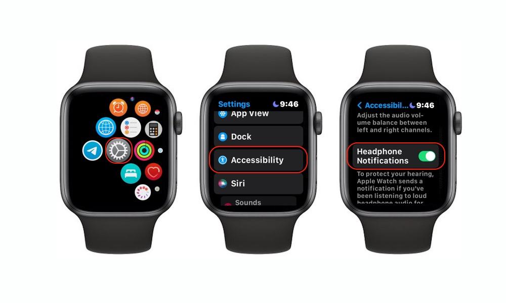 Turn on Headphone Notifications Apple Watch