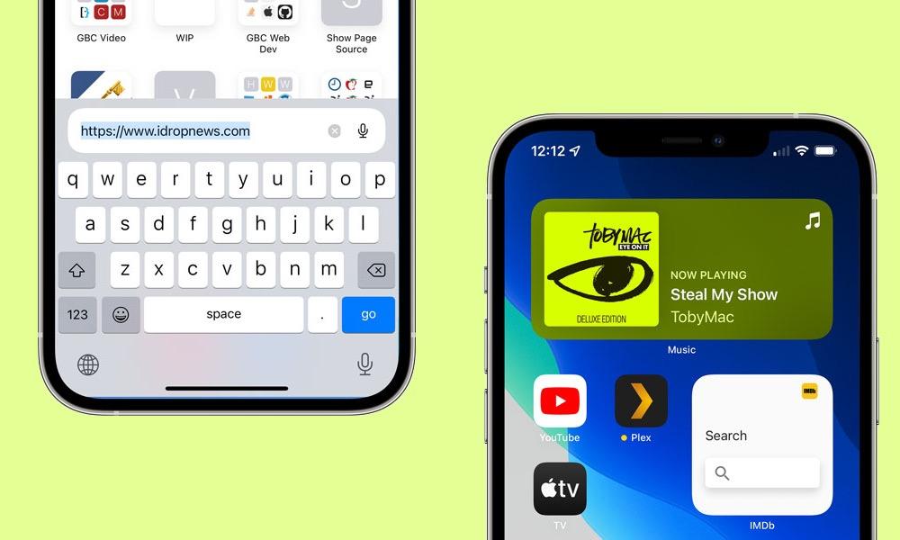 Safari and Music Widgets in iOS 15