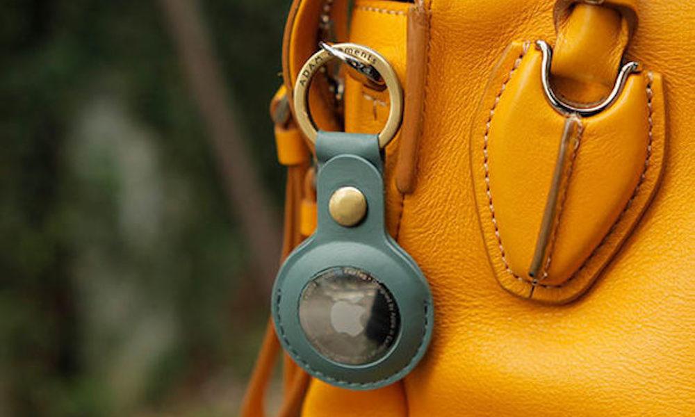 AirTag Leather Keychain