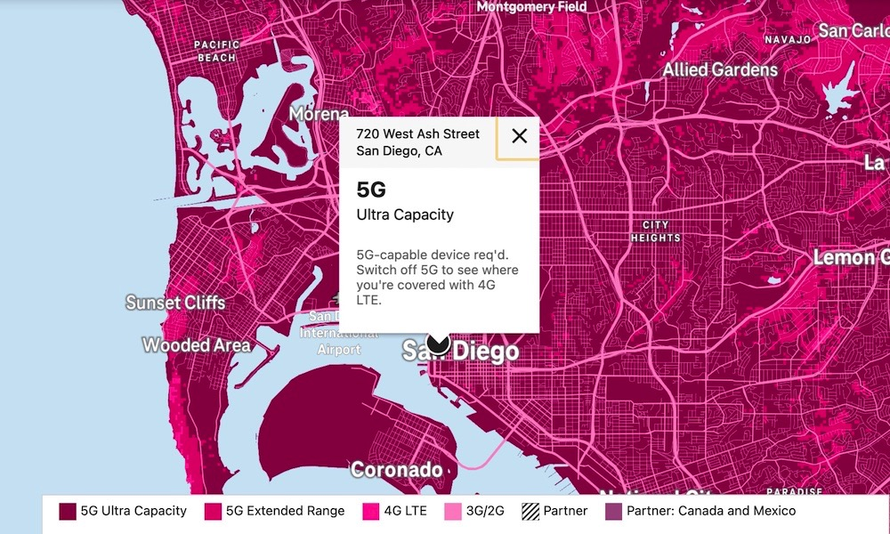T Mobile 5G Coverage Map San Diego