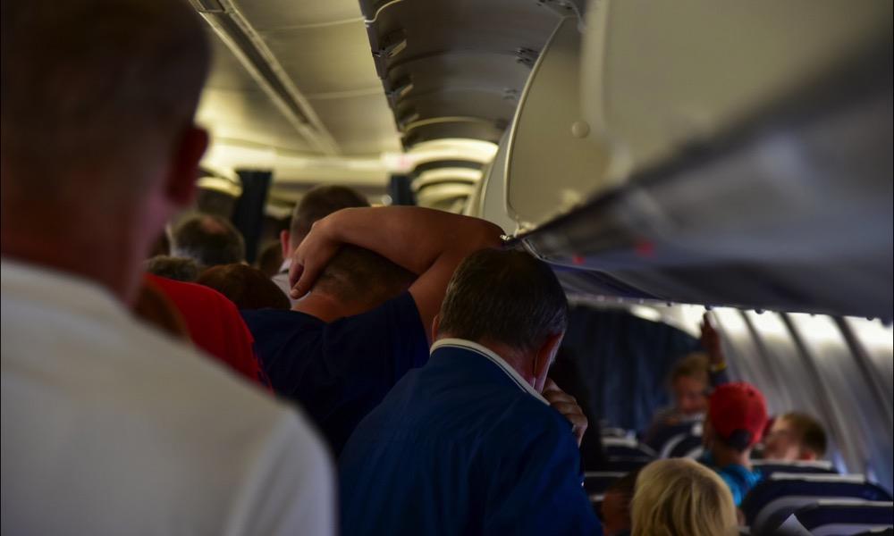 Evacuating Airplane