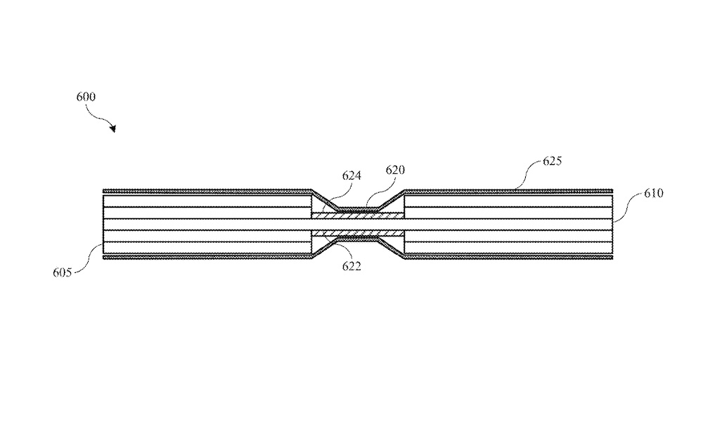 Apples foldable battery patent application