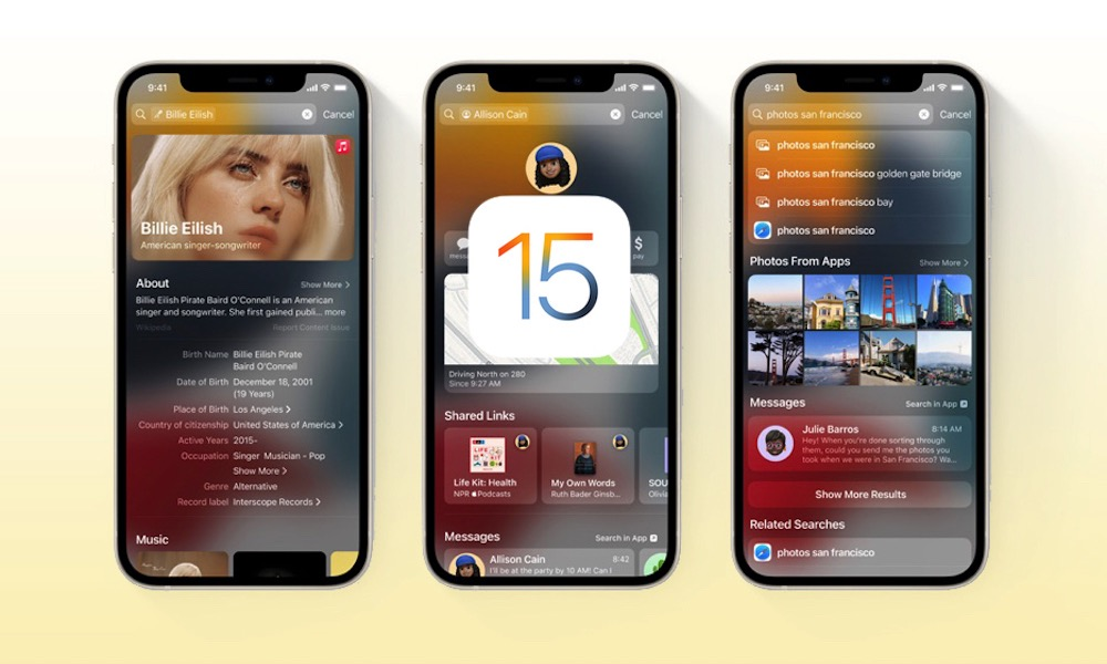 Whats New in iOS 15